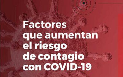 Factores que aumentan el riesgo de contagiarnos de COVID-19
